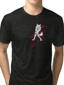 Cute anthro white wolf Tri-blend T-Shirt