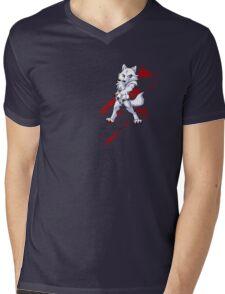 Cute anthro white wolf Mens V-Neck T-Shirt