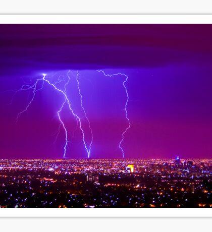 Lightning over Adelaide Sticker