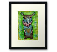 Swamp Rhino - Endangered Series by Beatrice Ajayi Framed Print