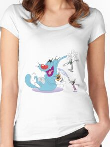 Character oggy Women's Fitted Scoop T-Shirt