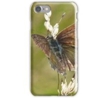 Fringed Heath Blue Butterfly iPhone Case/Skin