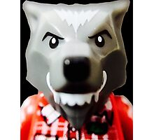 Lego Wolf Guy minifigure Photographic Print