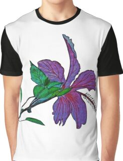 Pink Hibiscus Flower Graphic T-Shirt