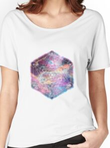 Watercolor and nebula sacred geometry  Women's Relaxed Fit T-Shirt