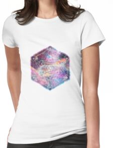 Watercolor and nebula sacred geometry  Womens Fitted T-Shirt