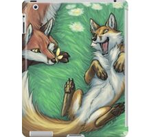 Playful foxes iPad Case/Skin