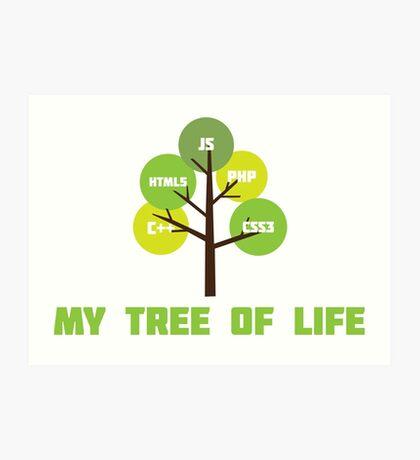 Programming tree of life Art Print