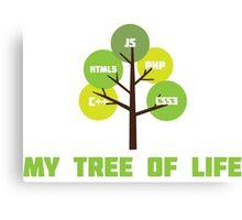 Programming tree of life Canvas Print