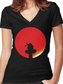 Genius Ninja Women's Fitted V-Neck T-Shirt