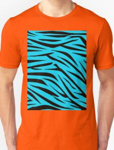Teal and Black Zebra Stripes Unisex T-Shirt
