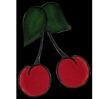 Cute Red Cherries Photographic Print
