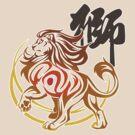 Lion tribal tattoo by jccat
