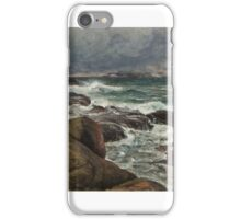 Berndt Lindholm, , Cliffs on a Shore iPhone Case/Skin
