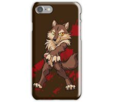 Cute anthro brown wolf iPhone Case/Skin