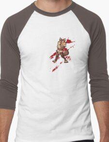 Cute anthro brown wolf Men's Baseball ¾ T-Shirt
