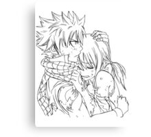 Natsu and Lucy Canvas Print