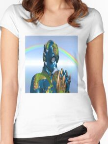 World Pollution 2 Women's Fitted Scoop T-Shirt