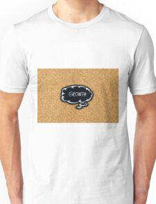 GROWTH written on black thinking bubble Unisex T-Shirt