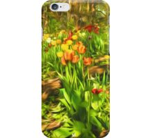 Impressions of Gardens - the Untamed Tulip Forest in Spring iPhone Case/Skin