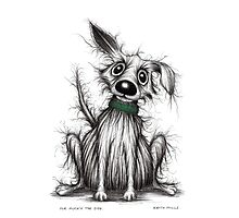 Mr Mucky the dog Photographic Print