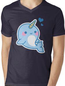 Cute Narwhal Mens V-Neck T-Shirt
