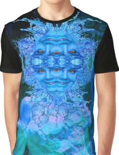 Blue Champagne Graphic T-Shirt