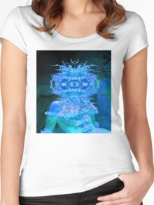 Blue Champagne Women's Fitted Scoop T-Shirt