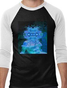 Blue Champagne Men's Baseball ¾ T-Shirt