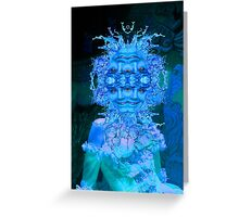 Blue Champagne Greeting Card