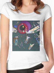 Kandinsky - Around The Circle Women's Fitted Scoop T-Shirt