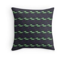 Blocks dark grey and green Throw Pillow