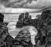 Wild weather at Punakaiki by Charles Kosina