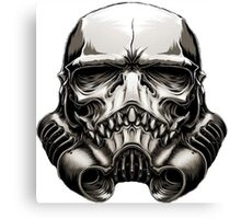 Skeleton Stormtrooper Helm Canvas Print