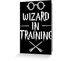 Wizard in training HP v2 Greeting Card