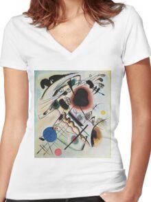 Kandinsky - Black Spot 1921  Women's Fitted V-Neck T-Shirt