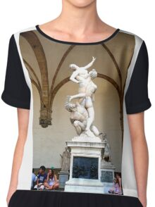 People and Art are the best elements on Earth Chiffon Top