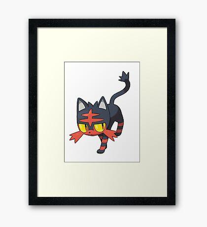 Litten New Pokemon (Pokemon Sun and moon) Framed Print
