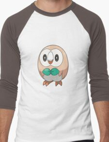 Rowlet New Pokemon (Pokemon Sun and moon) Men's Baseball ¾ T-Shirt