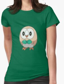 Rowlet New Pokemon (Pokemon Sun and moon) Womens Fitted T-Shirt