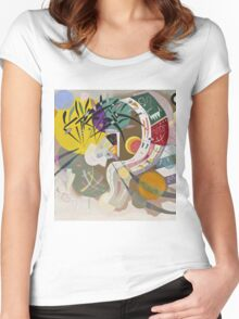 Kandinsky - Dominant Curve Women's Fitted Scoop T-Shirt