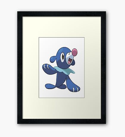 Popplio New Pokemon (Pokemon Sun and moon) Framed Print