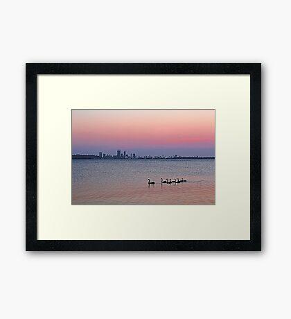Swan River Perth Western Australia  Framed Print