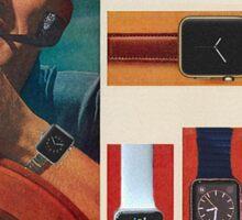 Vintage-Style Apple Watch Ad Sticker