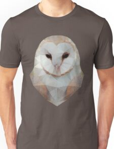Barn Owl triangle Unisex T-Shirt