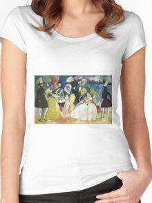 Kandinsky - Group In Crinolines Women's Fitted Scoop T-Shirt