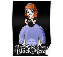 Black Metal Princess Poster