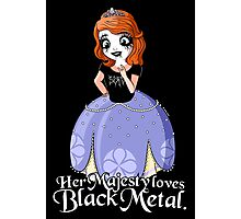 Black Metal Princess Photographic Print