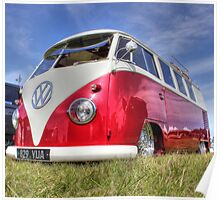 Shiny Red Camper Poster