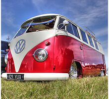 Shiny Red Camper Photographic Print